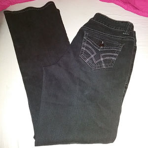 Faded Glory Black Boot Cut Jeans Button Po…